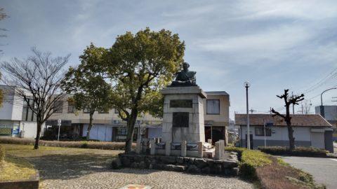 中江藤樹像(JR安曇川駅)