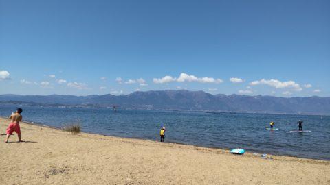 琵琶湖「湖岸緑地 吉川」