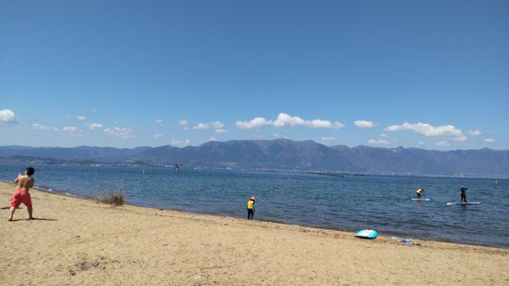 琵琶湖畔のデイキャンプ・バーベキューにオススメの無料スポット「湖岸緑地 吉川」