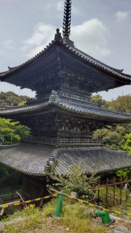 安土城跡 三重塔